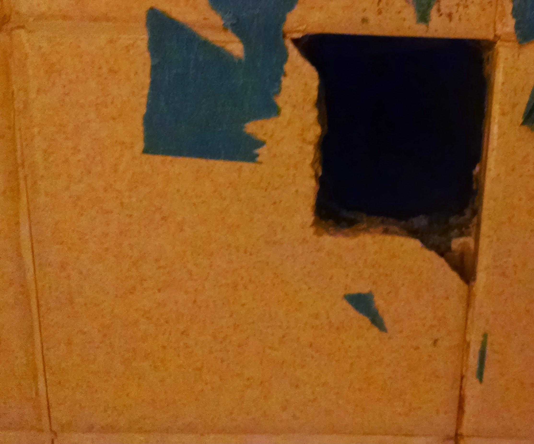 repair a hole in bathroom wall tile