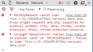 javascript: Ajax XMLHttpRequest - File not gettin loaded ...