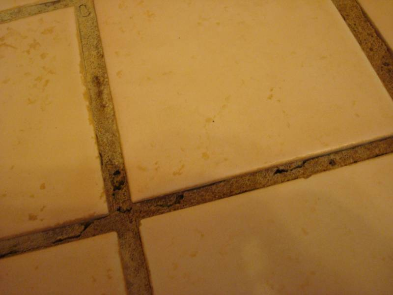 bathroom   What is the best way to repair and prevent cracking grout     enter image description here