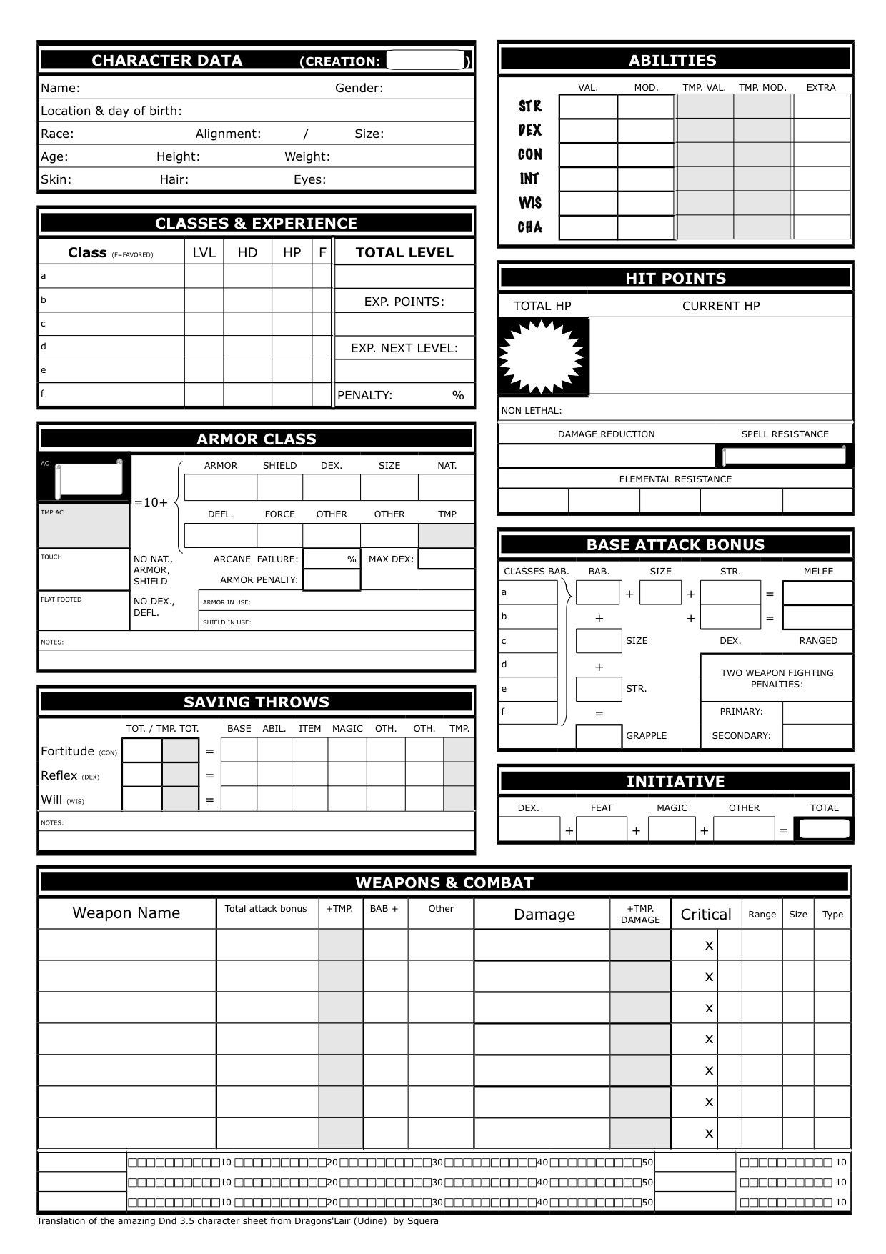 Show Off Your Character Sheet Designs