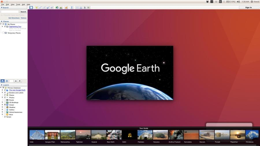 Google Earth doesn t show map   Ask Ubuntu What shows up when I launch Google Earth