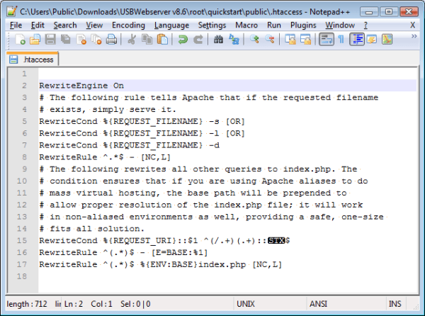 php - Non-printing character in .htaccess file generated ...