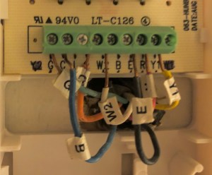 Honeywell RTH6500 WiFi Thermostat wiring questions for a heat pump  Home Improvement Stack Exchange