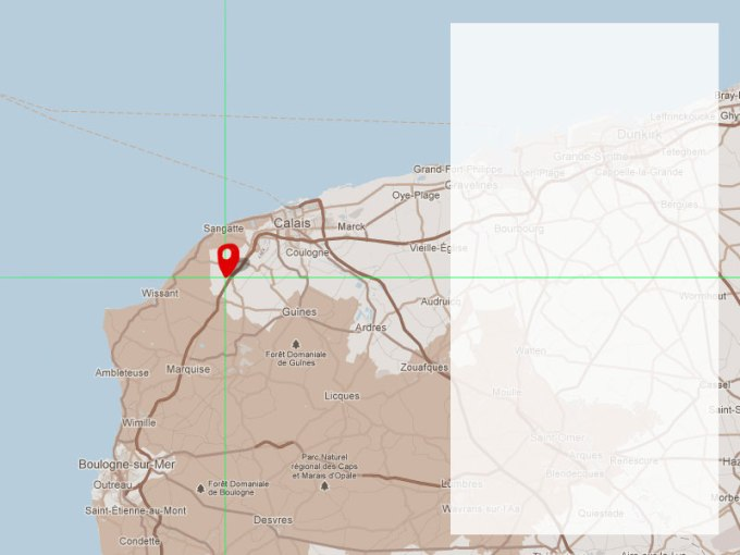 javascript   How to offset the center point in Google maps api V3     Mockup of the map I am building