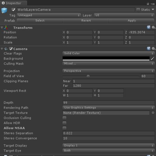 Constrained Camera Configuration