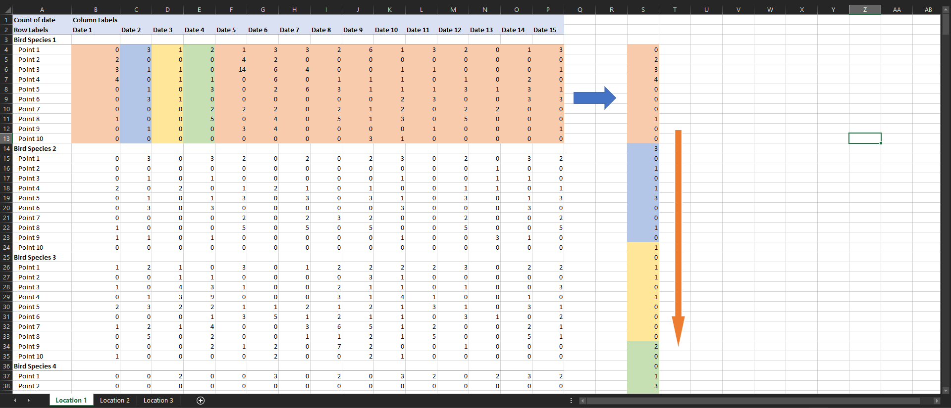 Excel Vba Code That Moves Large Amounts Of Data From