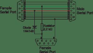 resistors  Monitoring serial munication and problems