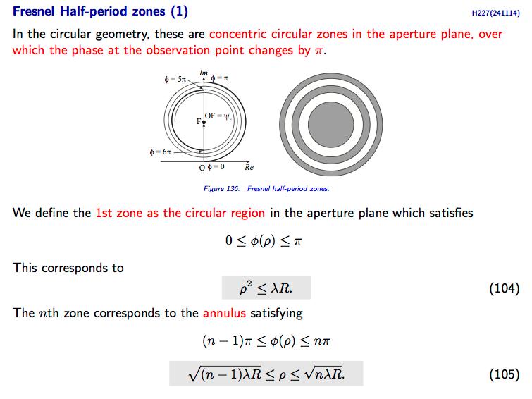 Diffraction Fresnel Half Period Zone Physics Stack