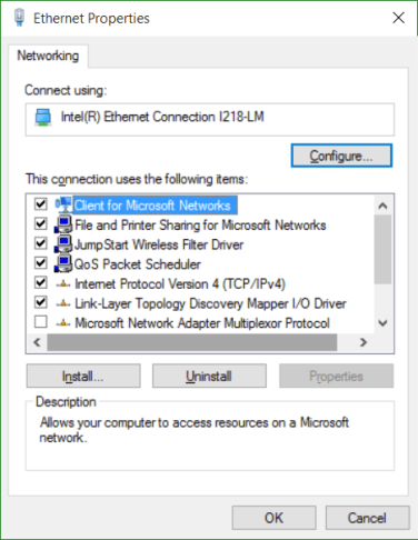 Blank network connection properties - Super User
