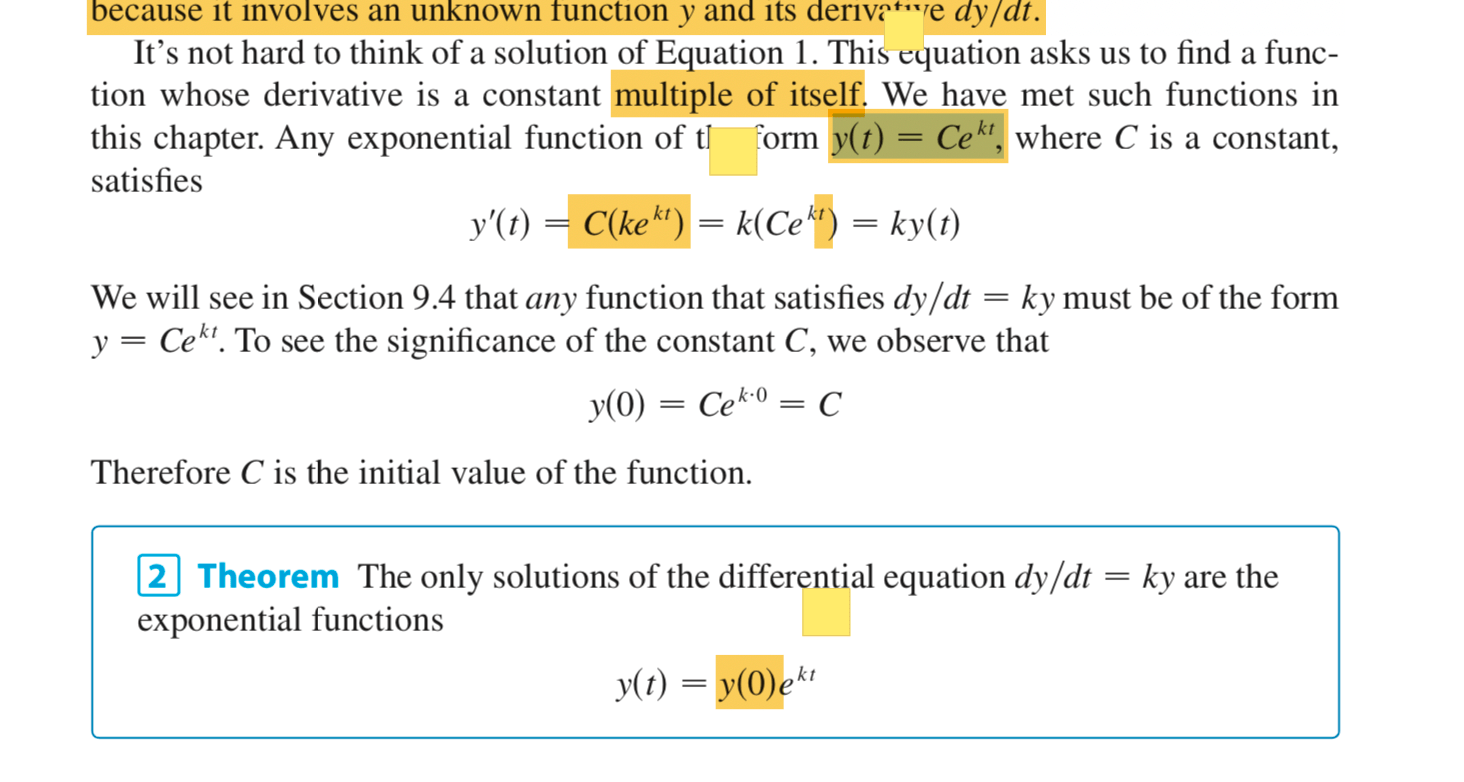 Exponential Growth And Decay Calculus