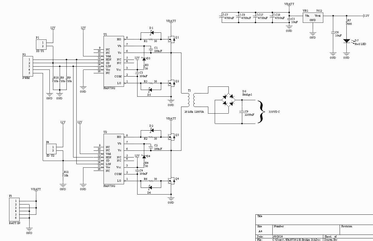 24v H Bridge Circuit Schematic