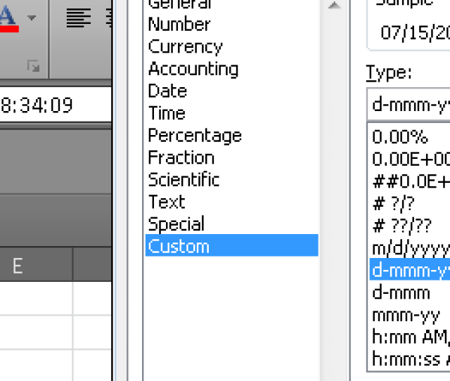In C Excel Cells Custom Date Format Not Working With Epplus