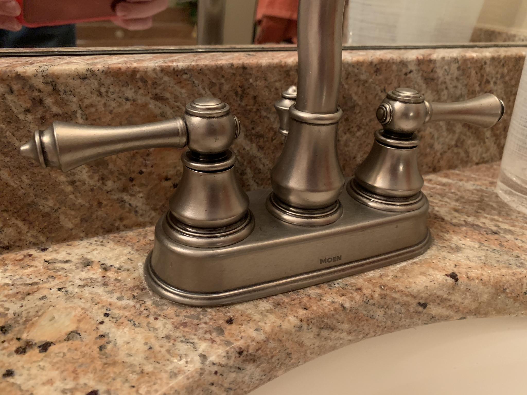 moen bathroom faucet handle removal