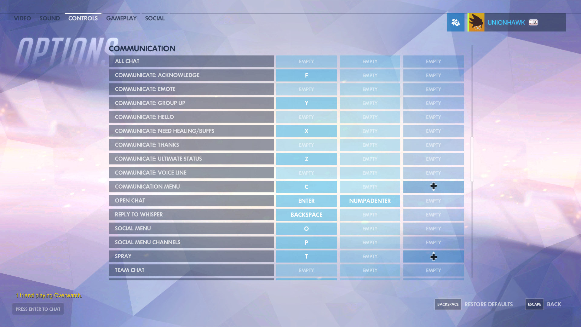 Overwatch Can I Bind A Key To Specific Voice Commands
