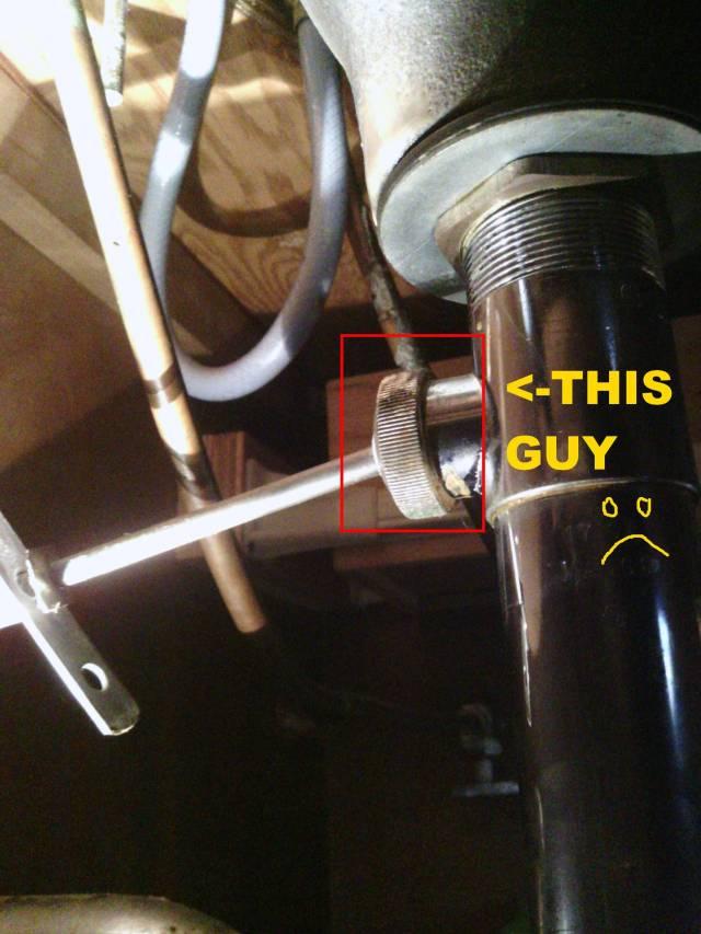plumbing How do I loosen my bathroom stopper pivot nut Home
