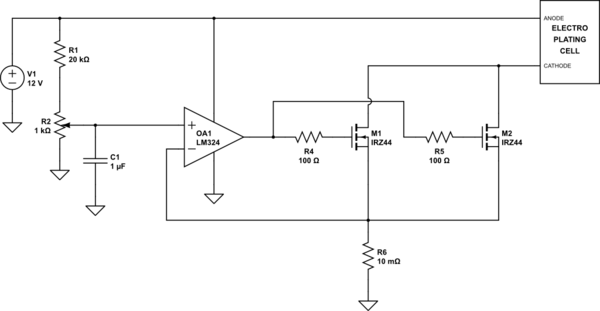 Designing Adjustable Current Source 30A To 60A