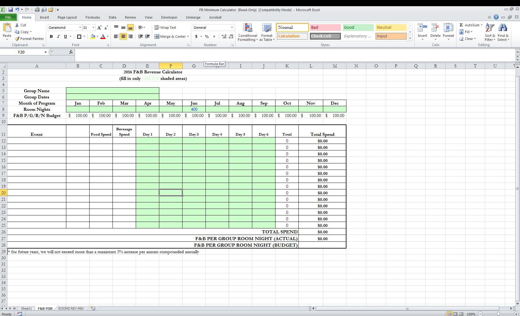 Excel Formula Multiplying Based On Cells That Are Filled