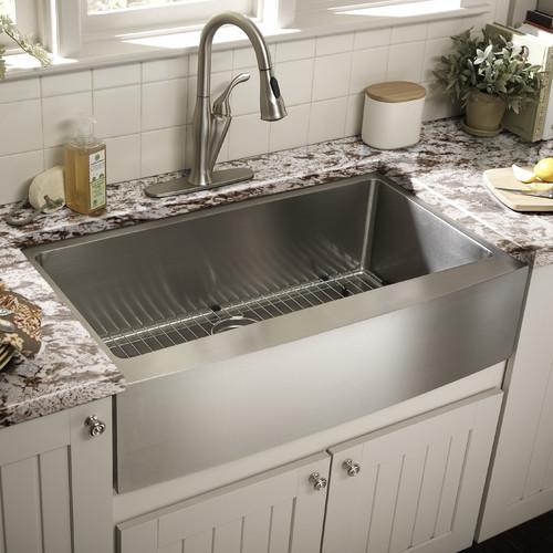 hEaox White Kitchen Sink Faucet