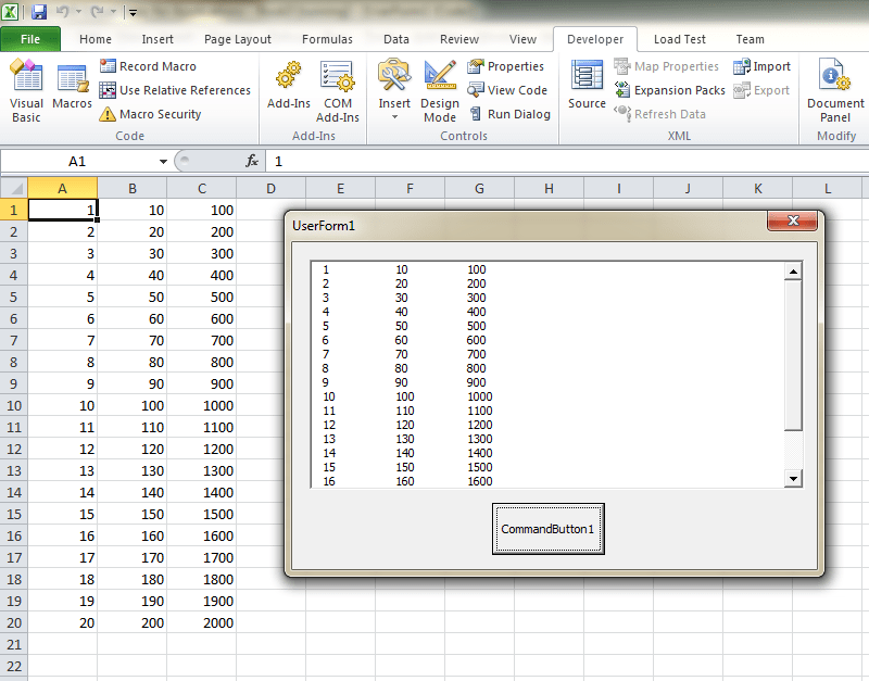 How To Display Part of Excel on VBA Form   Chris Memo