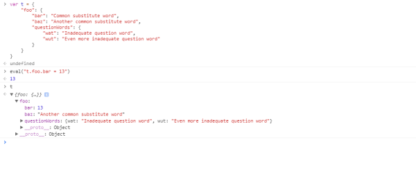 JavaScript: Change data in JSON by string data path ...