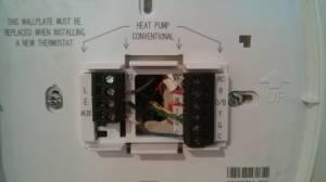 hvac  heat pumpair conditioning wiring to thermostat