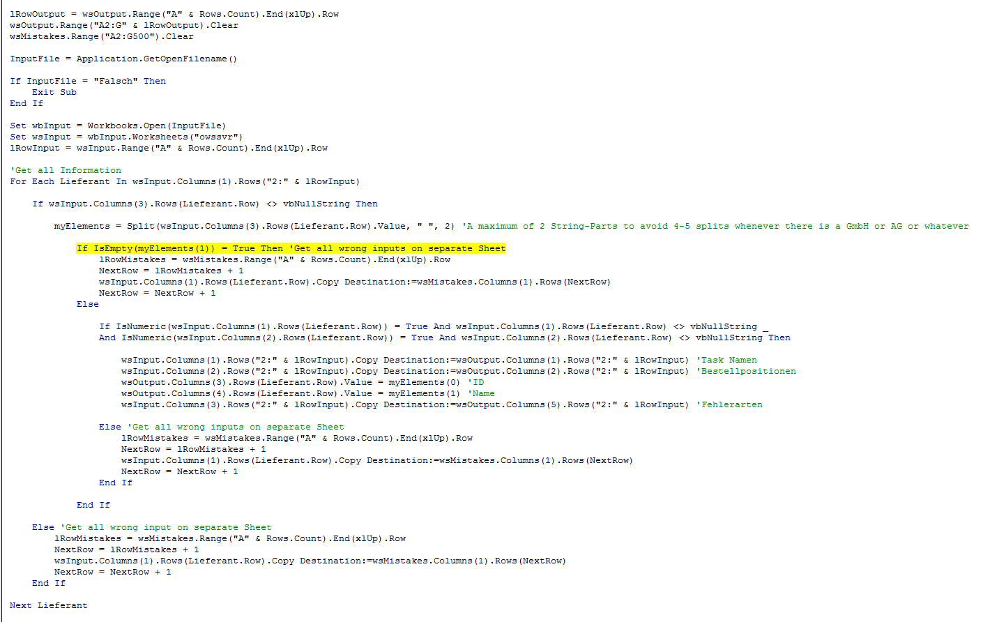 Vba Runtime Error 9 When Checking Whether String Has Two