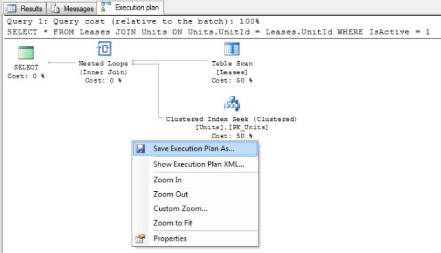 Screenshot of an Execution Plan