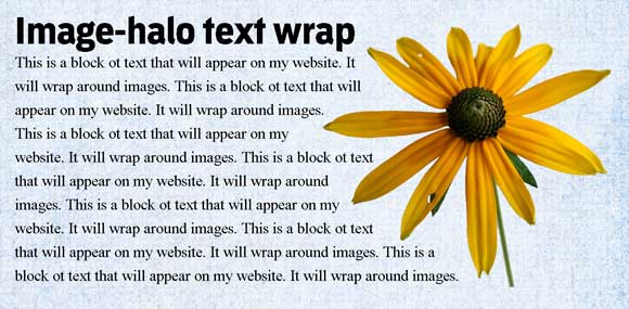 HTML/CSS - Wrap text around larger text - Stack Overflow