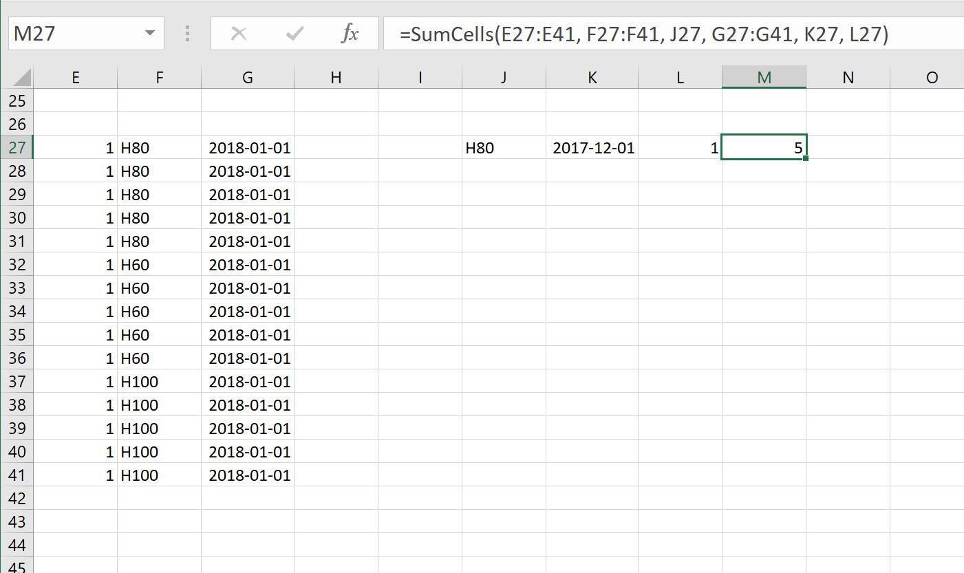 Excel Vba Function Multiple User Defined Ranges