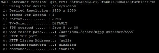 mjpeg-streamer output
