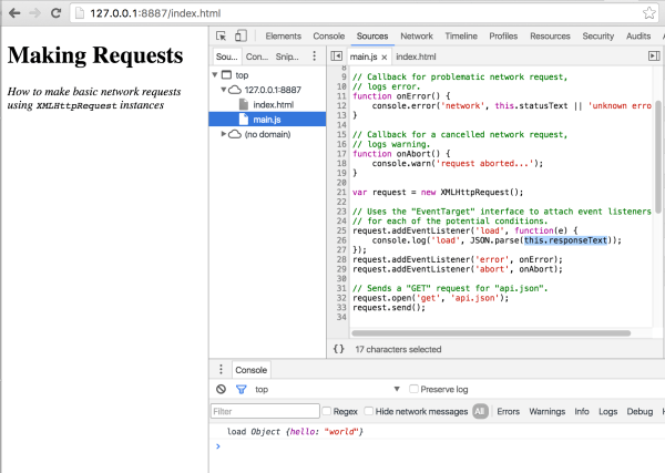 javascript - Using this keyword in XMLHttpRequest callback ...