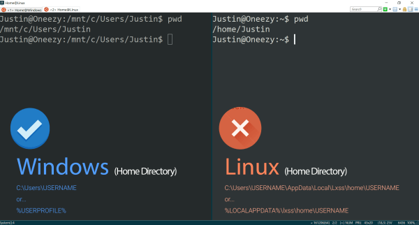 command line - Windows Subsystem for Linux: /home/user ...