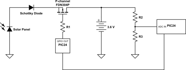 Solar Controller With BJT Transistor And PIC24