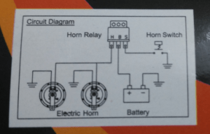 electrical  Wiring a 3 pin relay to power a dual horn