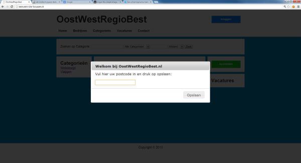 php - set cookie in jquery dialog and show selected value ...