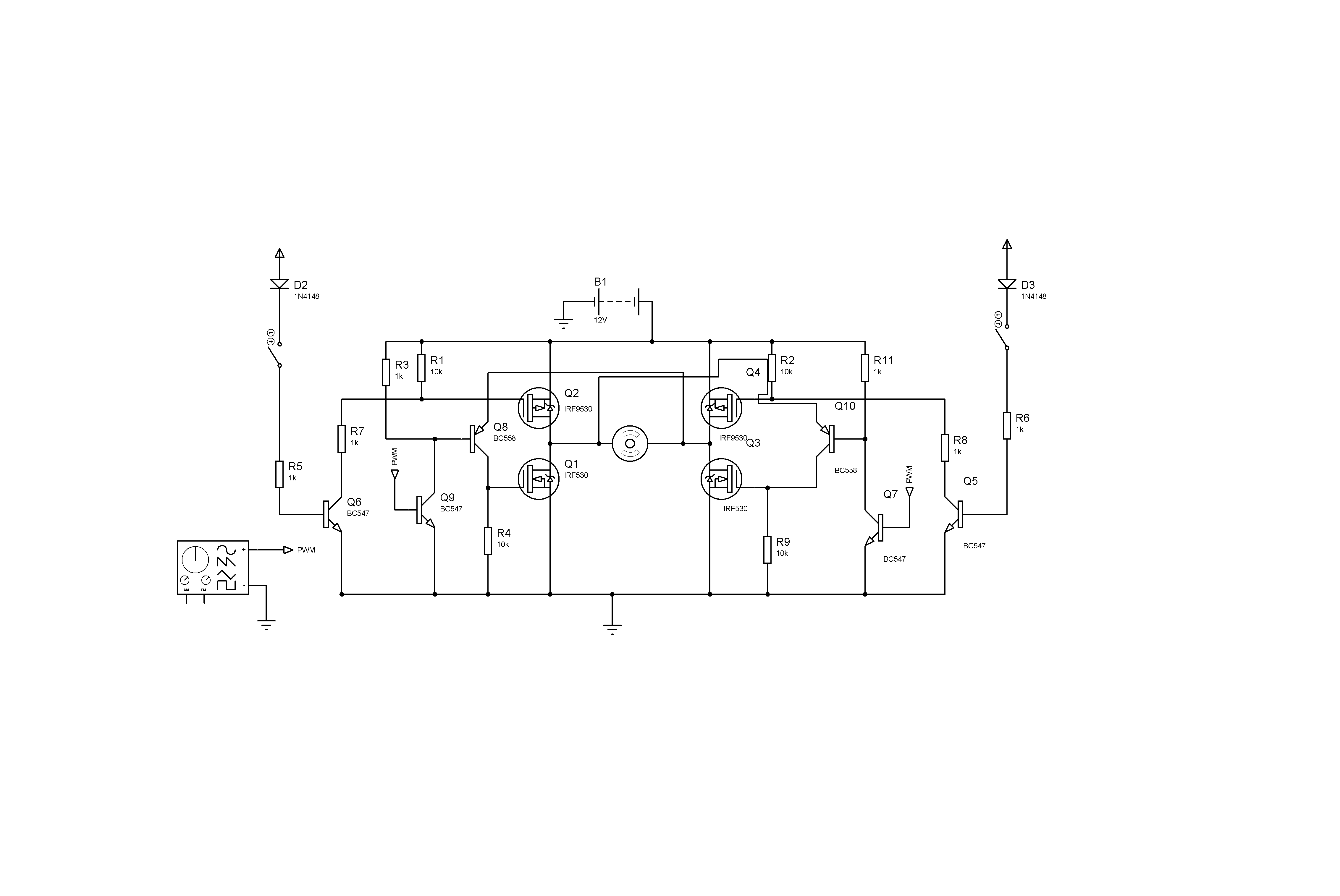Fet H Bridge Circuit Diagram