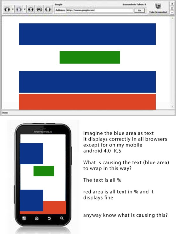 html - CSS text wrapping issue on mobile - Stack Overflow