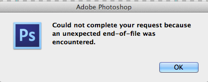Can Not Open Aco File In Photoshop Stack Overflow