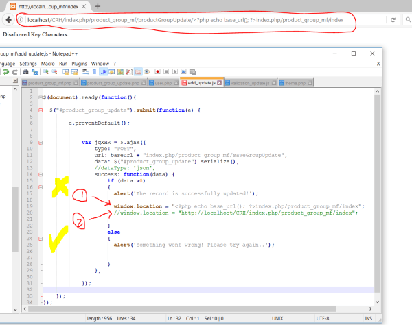 codeigniter - I cannot redirect to another page using ajax ...