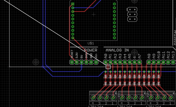 pcb EAGLE detecting error at Copper Trace intersecting