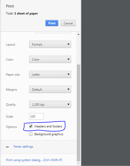 html - How to set default print option in browser - Stack Overflow