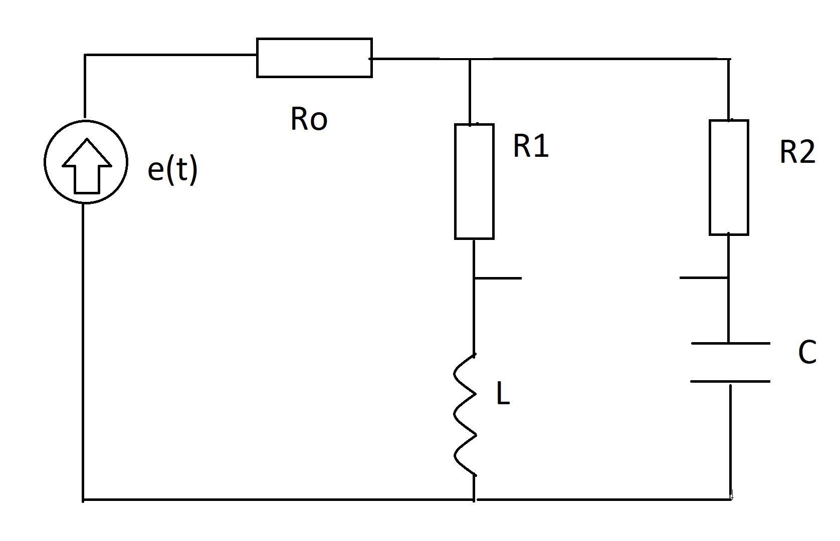 Circuit With Sinusoidal Voltage Source
