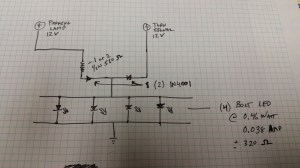 resistors  Help with Wiring LED Parking LightTurn Signal using manufactured Bolt LED