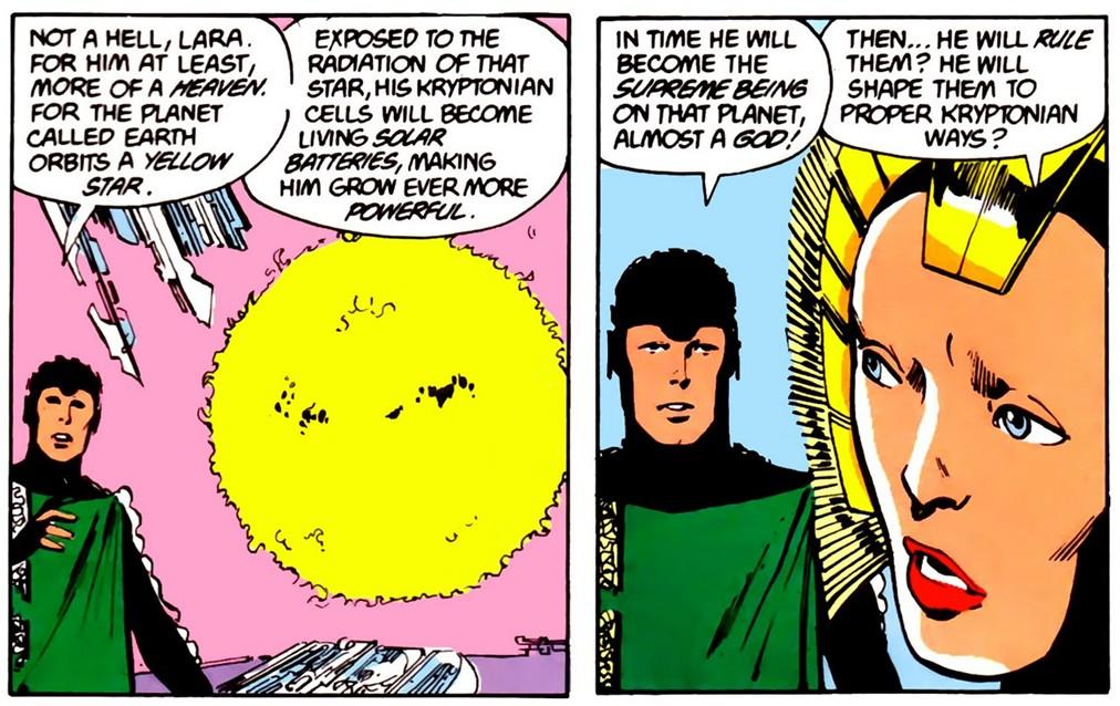 jor-el and lara-el discuss Kal-El's fate