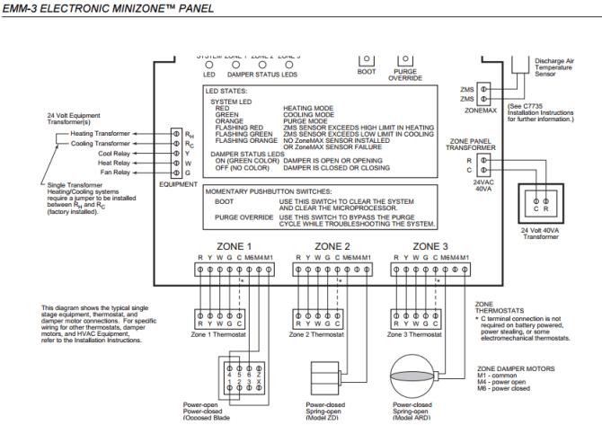 honeywell zone system wiring  home improvement stack exchange