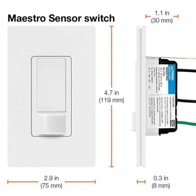 lutron sensor switch  wiring help  home improvement stack