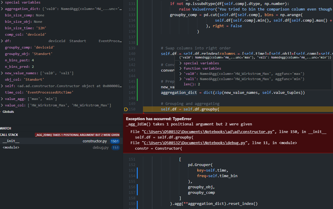 The aggregation error in the .init of class