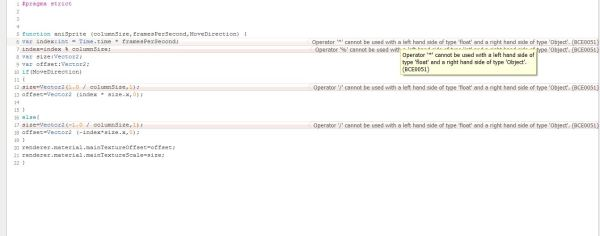 javascript - BCE0051: Operator '*' cannot be used with a ...