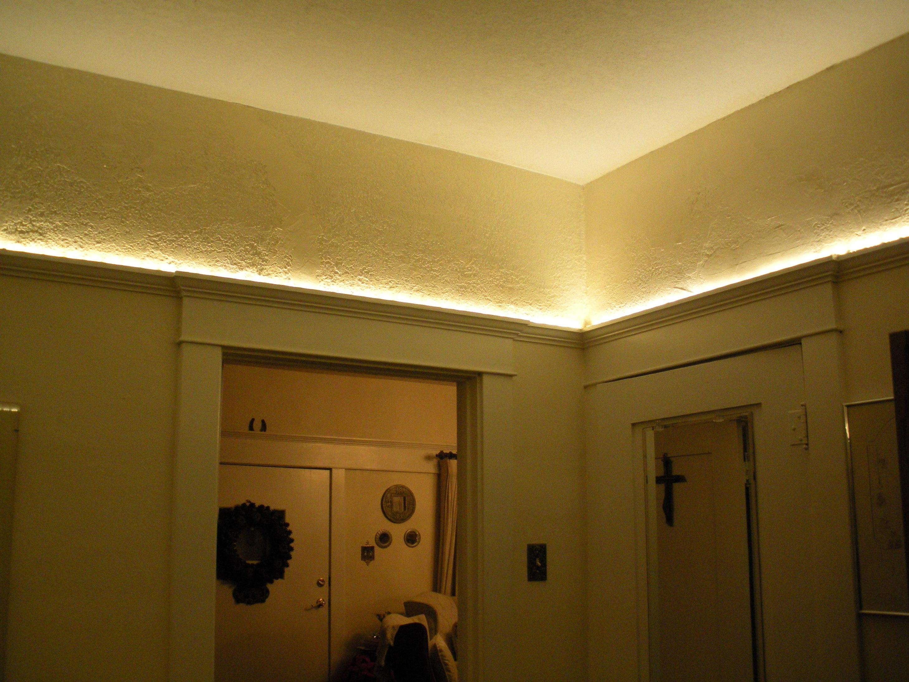 lighting to a low ceiling basement