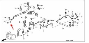Honda Civic 1997 steering fluid leak  Motor Vehicle